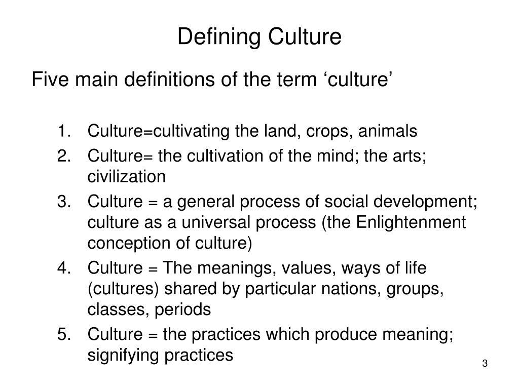 Defining Culture