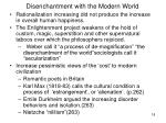 disenchantment with the modern world