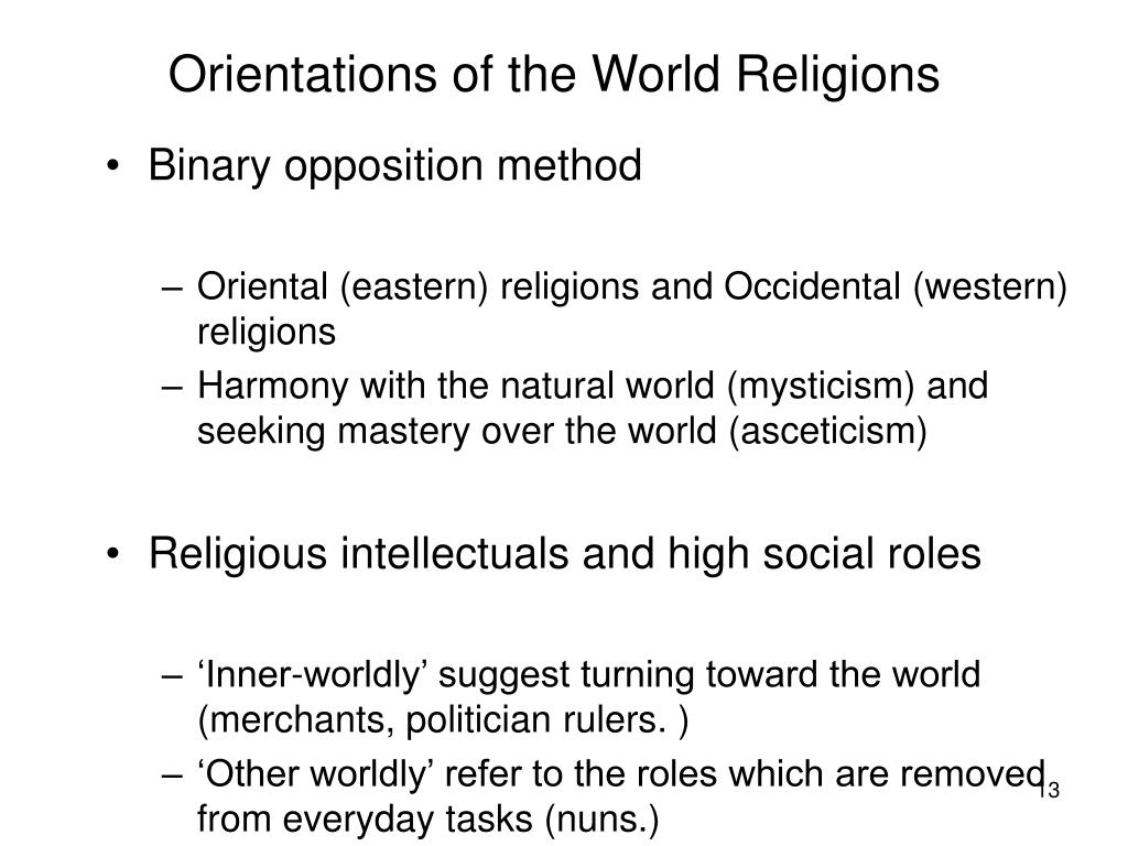 Orientations of the World Religions