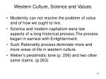western culture science and values