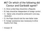 67 on which of the following did cavour and garibaldi agree