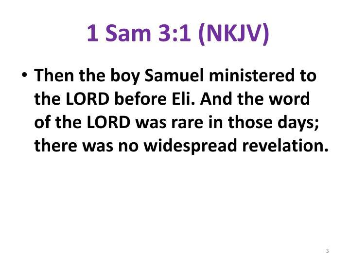 1 Sam 3:1 (NKJV)