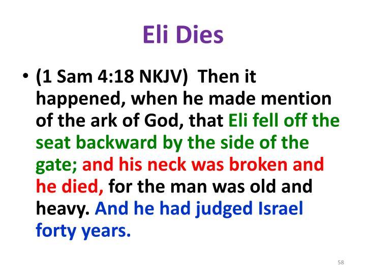Eli Dies