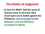 the battle of judgment