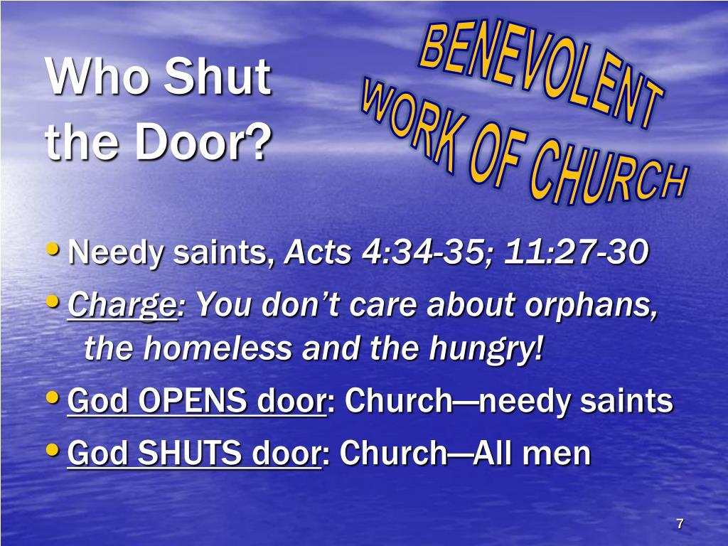 Who Shut the Door?