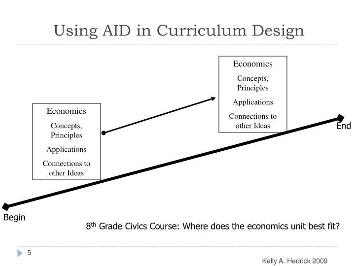 Using AID in Curriculum Design