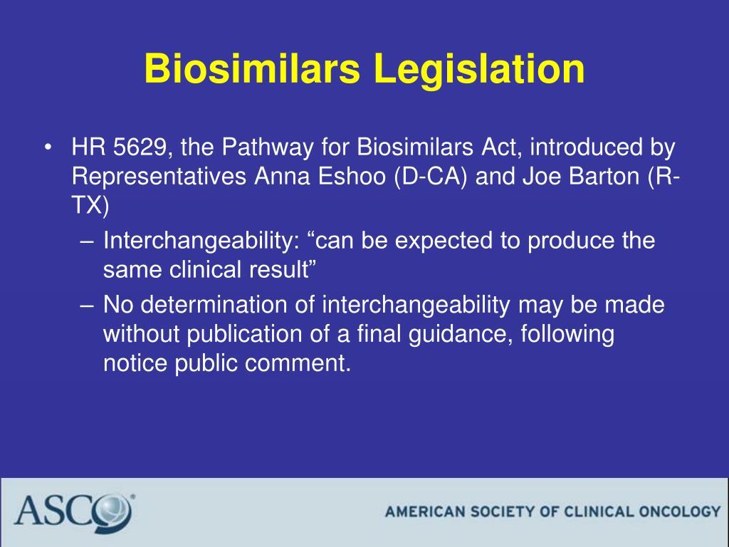 Biosimilars Legislation