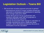 legislation outlook towns bill16