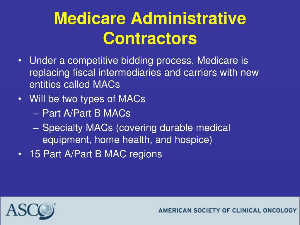 Medicare Administrative Contractors