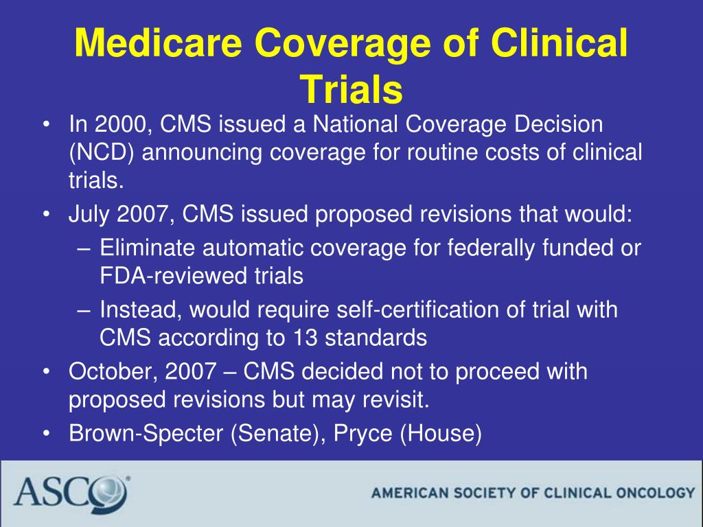 Medicare Coverage of Clinical Trials