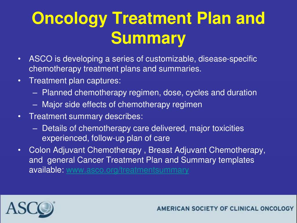Oncology Treatment Plan and Summary