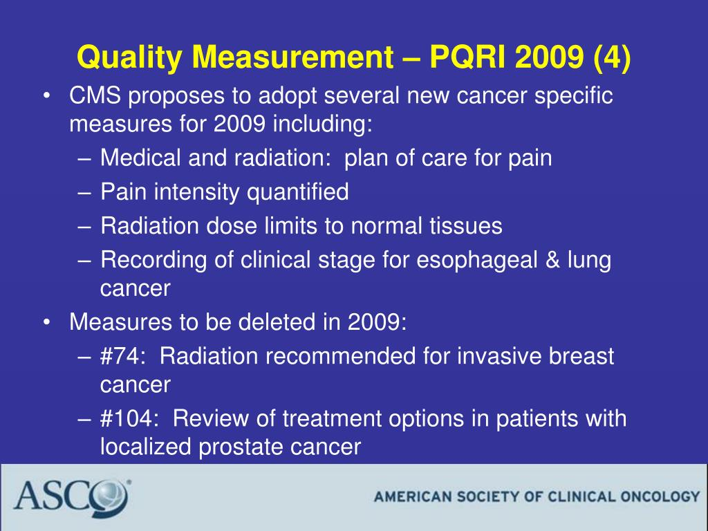 Quality Measurement – PQRI 2009 (4)