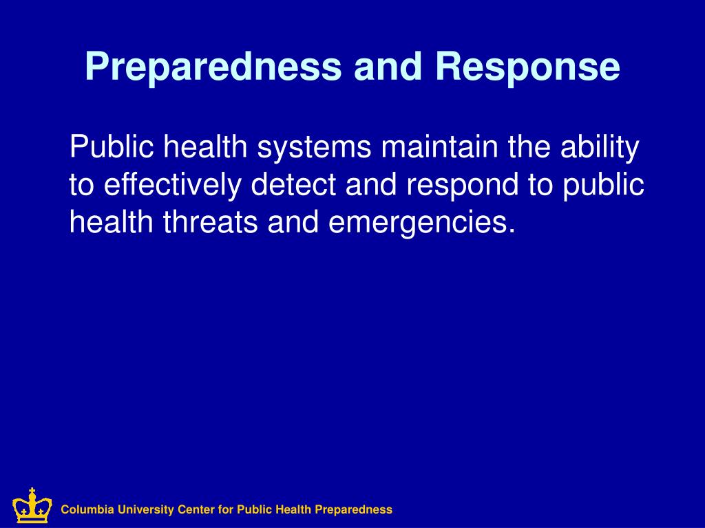 Columbia University Center for Public Health Preparedness