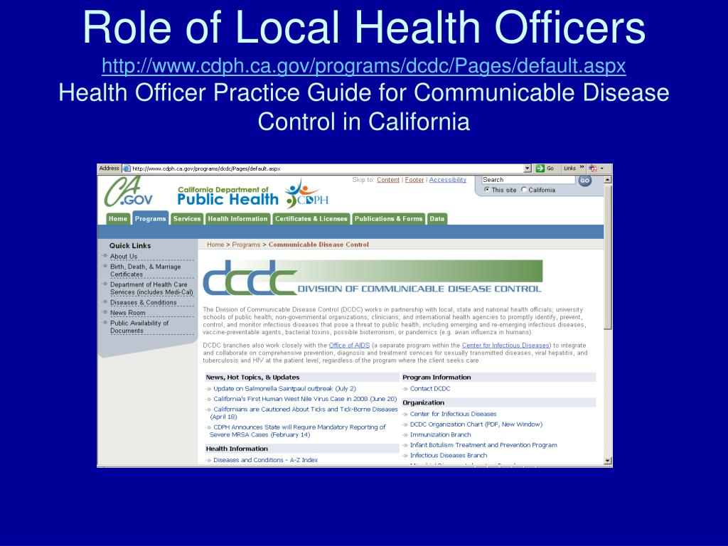 Role of Local Health Officers
