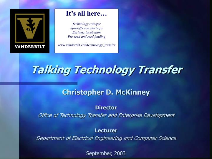 talking technology transfer