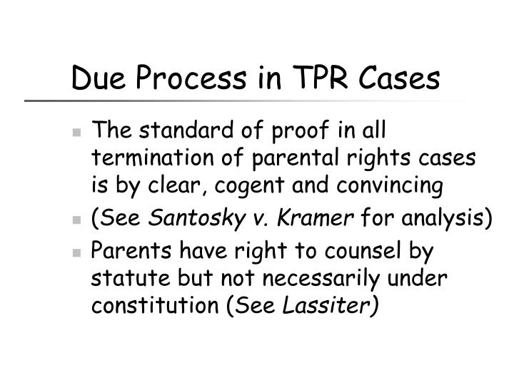 Due Process in TPR Cases