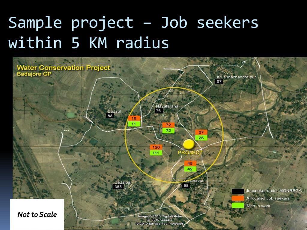 Sample project – Job seekers within 5 KM radius