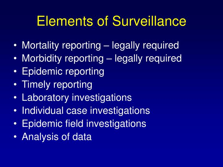 Elements of Surveillance