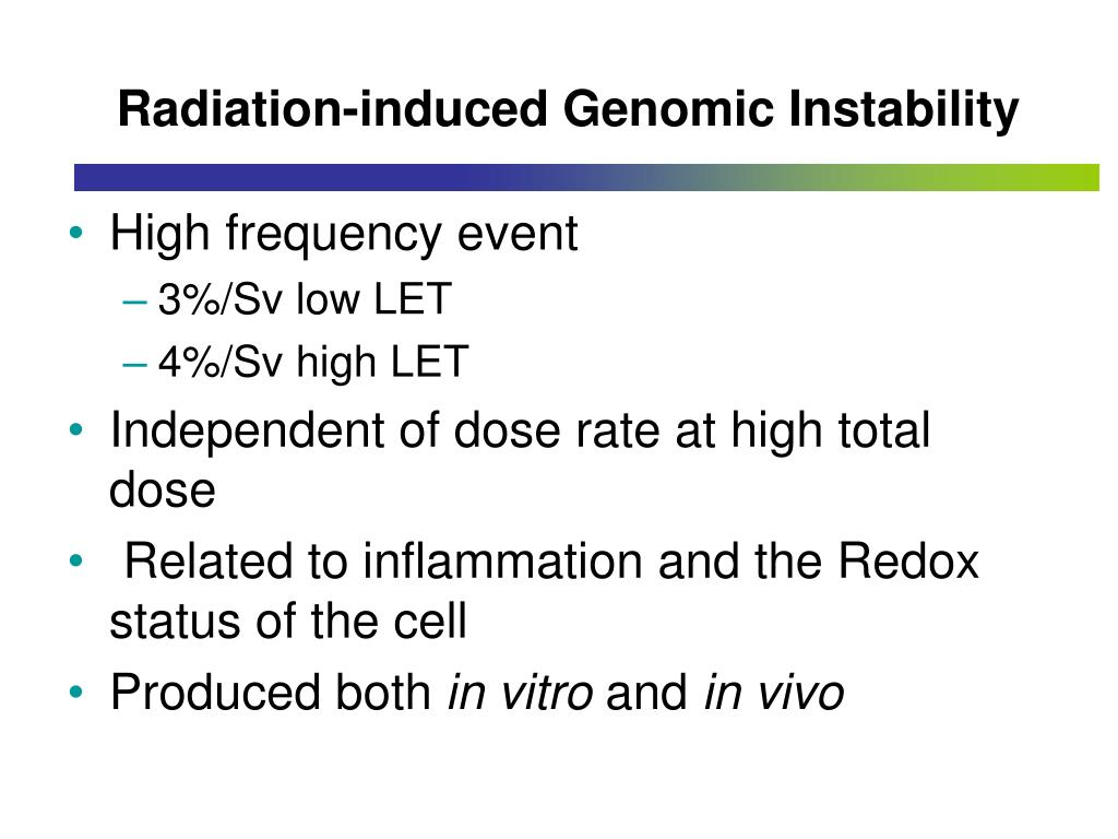 Radiation-induced Genomic Instability