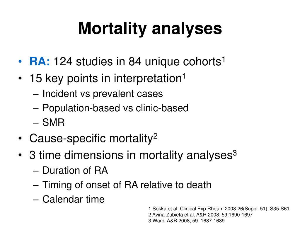 Mortality analyses