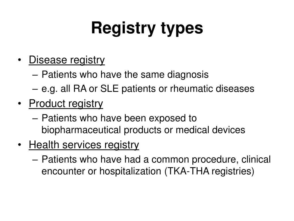 Registry types