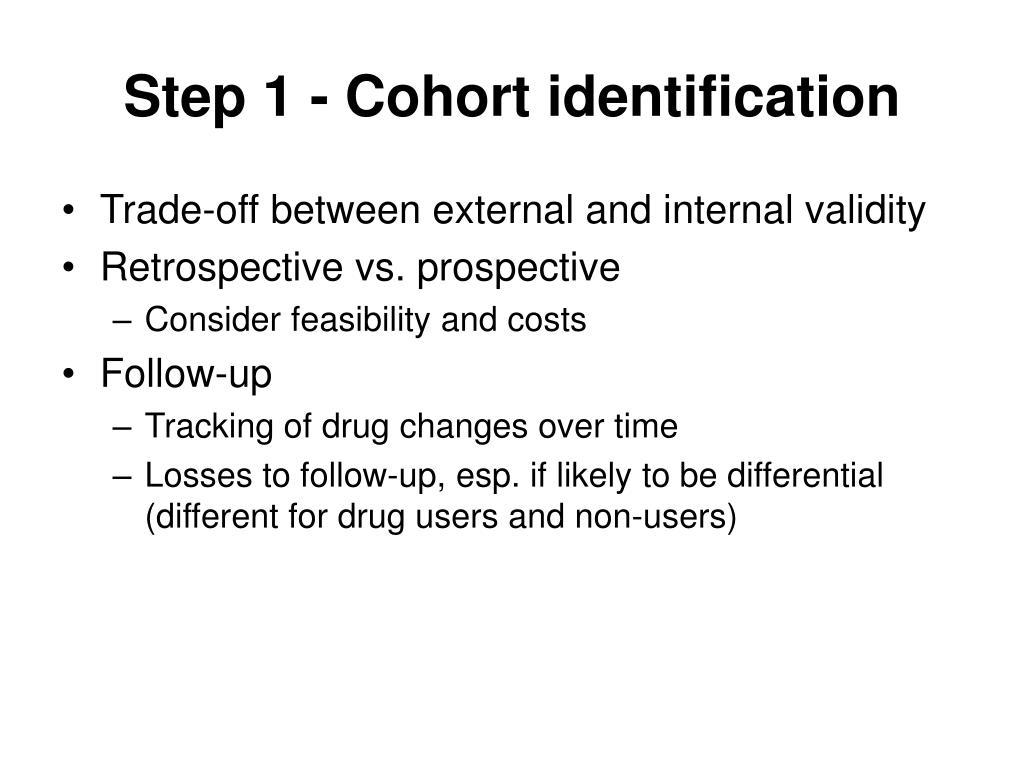 Step 1 - Cohort identification
