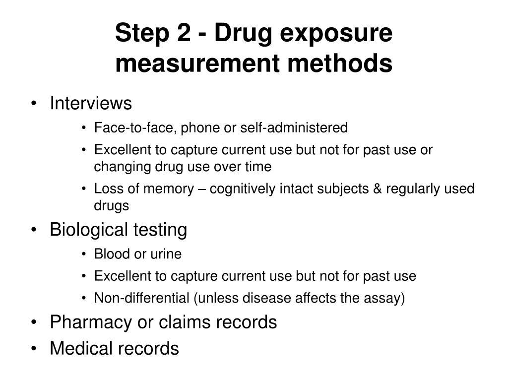 Step 2 - Drug exposure measurement methods