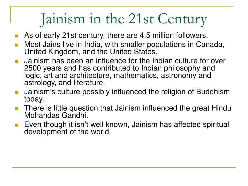 Jainism in the 21st Century