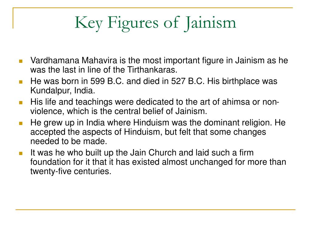 Key Figures of Jainism