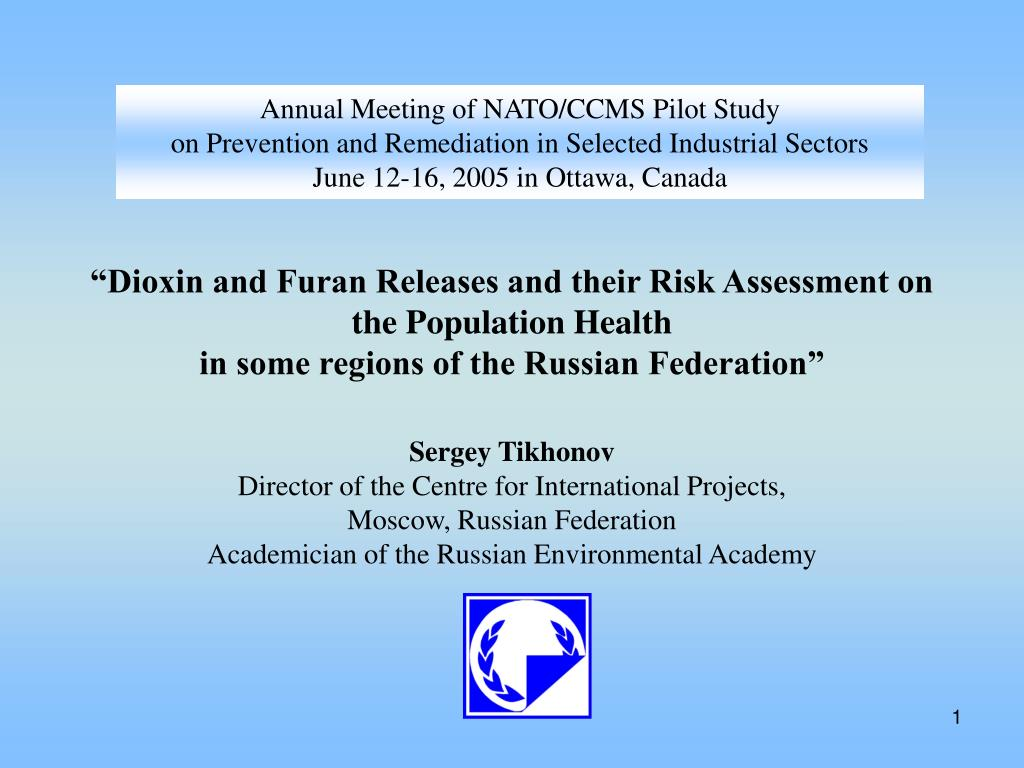 Annual Meeting of NATO/CCMS Pilot Study
