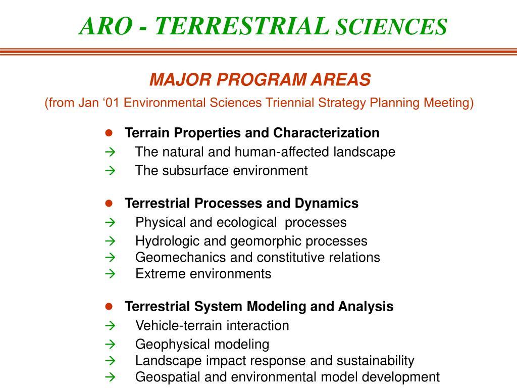 ARO - TERRESTRIAL