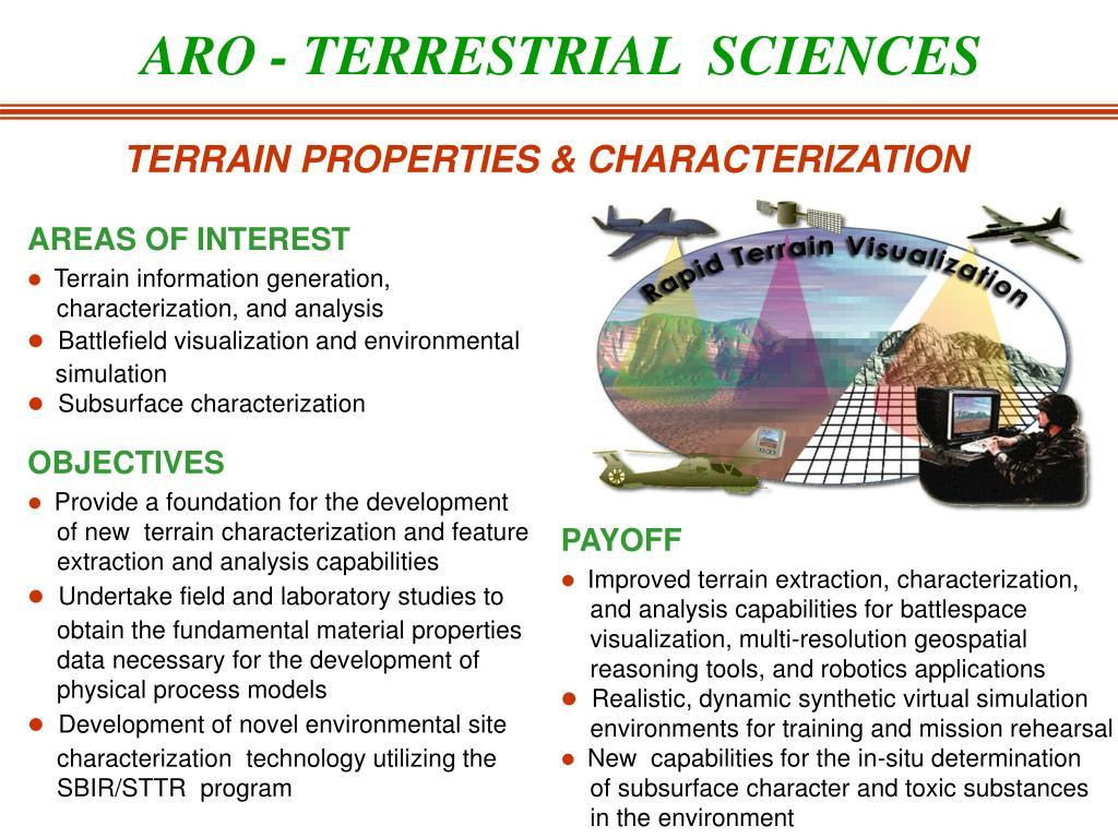 ARO - TERRESTRIAL  SCIENCES