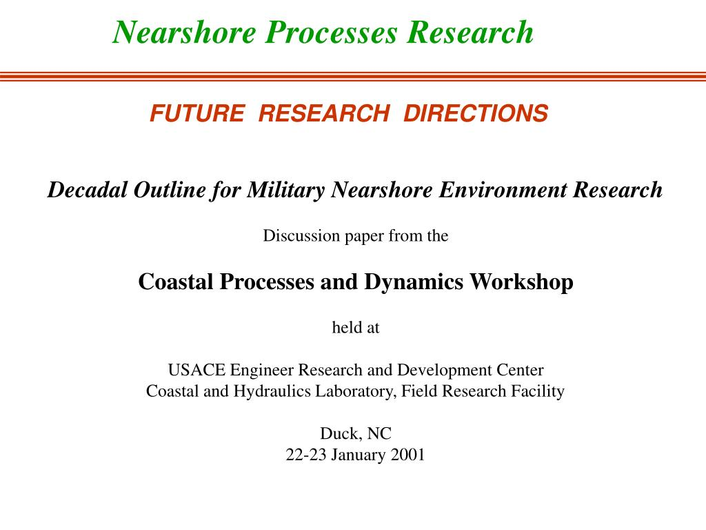 Nearshore Processes Research