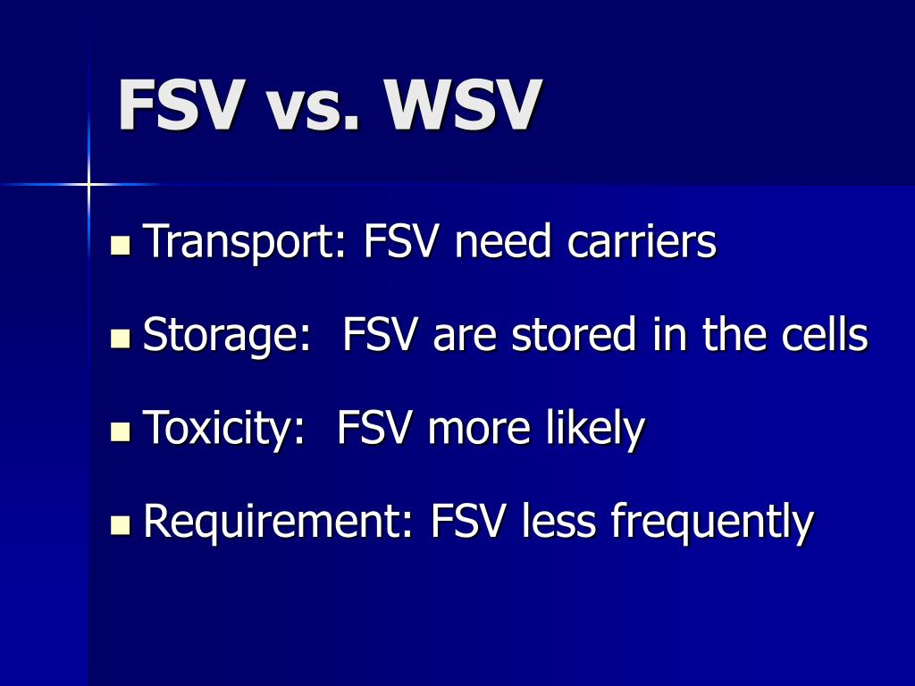 Transport: FSV need carriers
