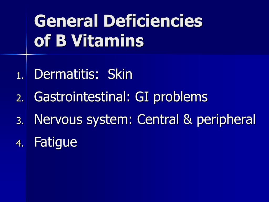 General Deficiencies