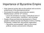 importance of byzantine empire