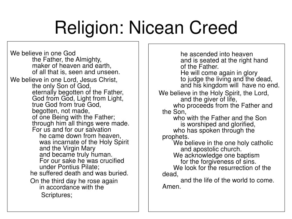 Religion: Nicean Creed