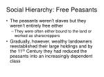 social hierarchy free peasants