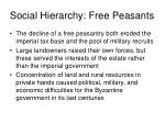 social hierarchy free peasants15