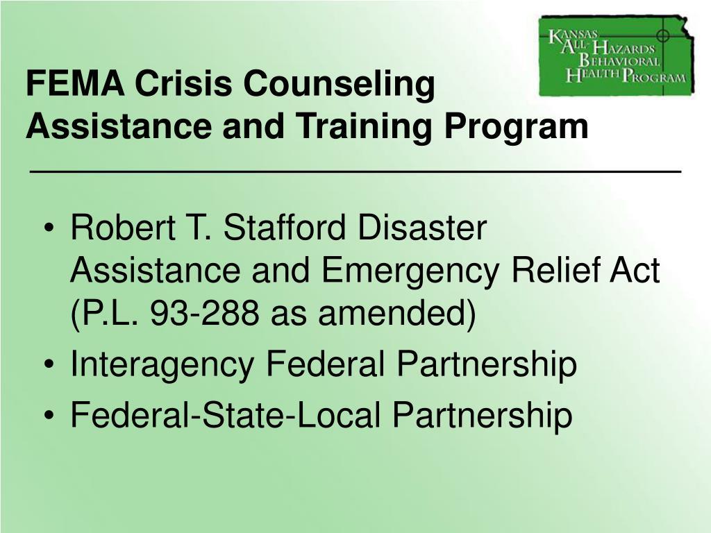 FEMA Crisis Counseling