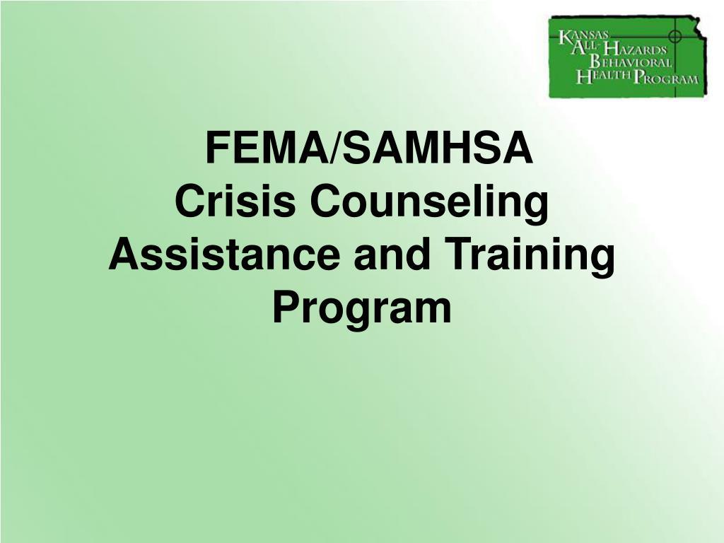 FEMA/SAMHSA