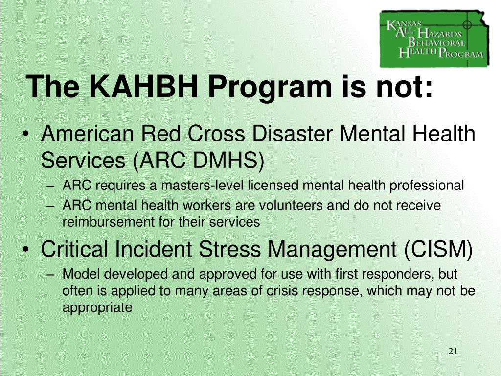 KAHBH is not: