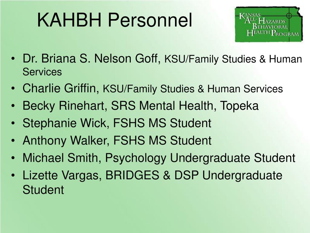 KAHBH Personnel