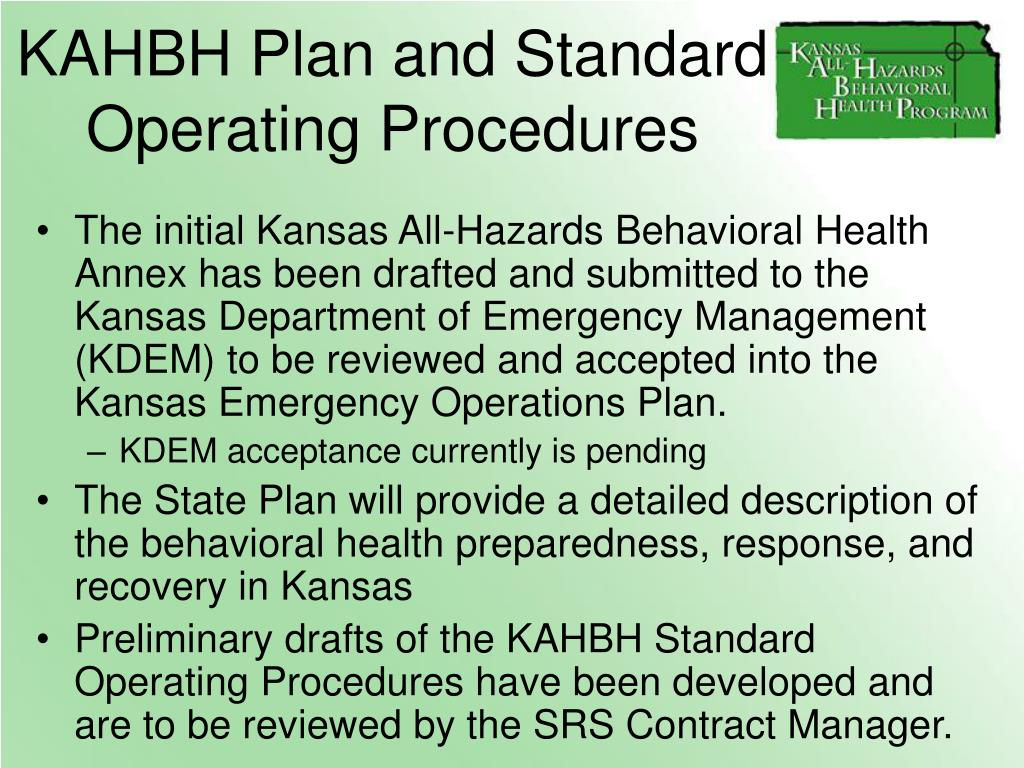 KAHBH Plan and Standard Operating Procedures
