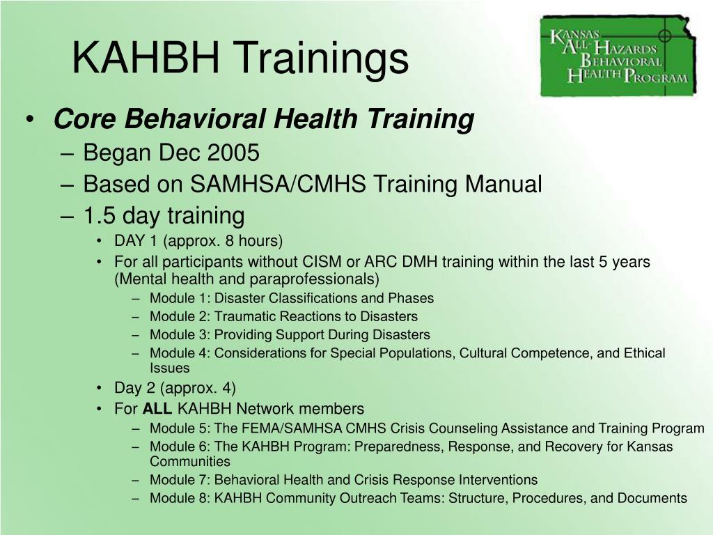 KAHBH Trainings