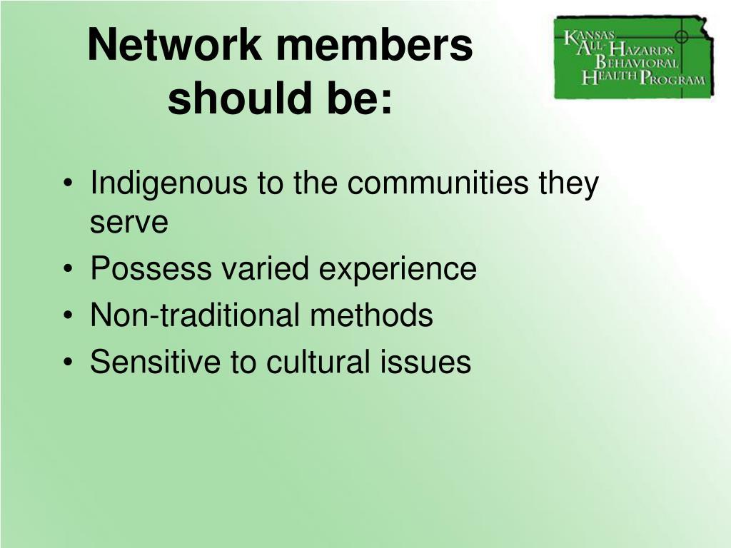 Network members