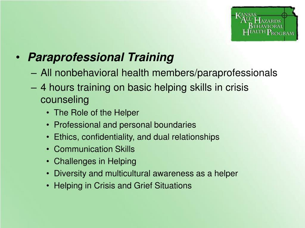 Paraprofessional Training