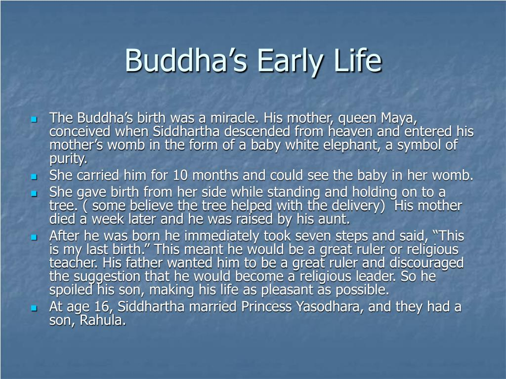 Buddha's Early Life