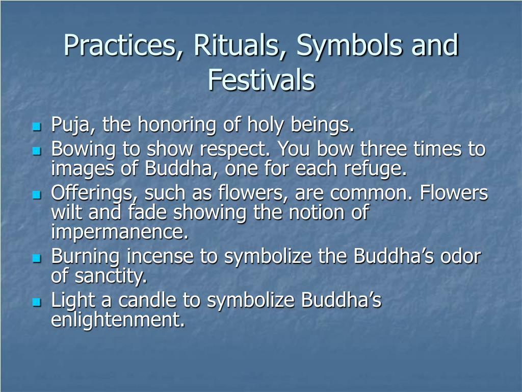 Practices, Rituals, Symbols and Festivals