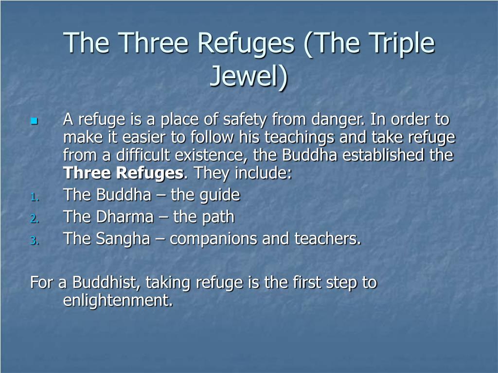 The Three Refuges (The Triple Jewel)